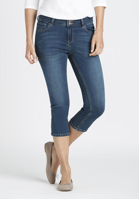 Ladies' High Rise Skinny Capri