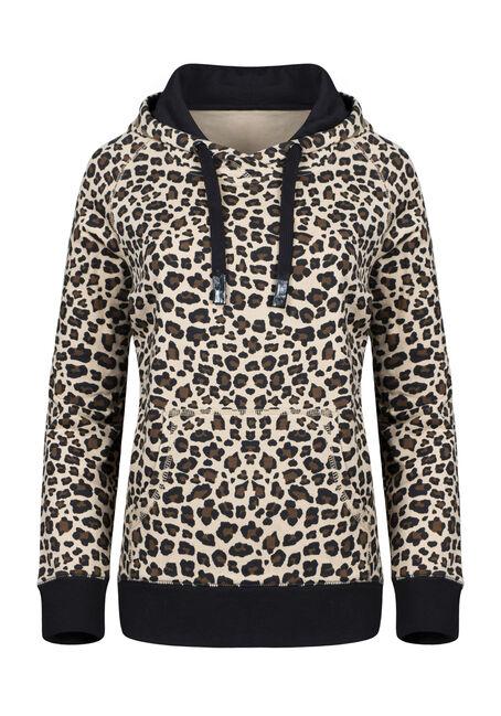 Women's Leopard Print Hoodie