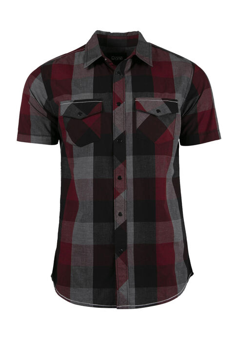 Men's Buffalo Plaid Shirt, CRIMSON, hi-res