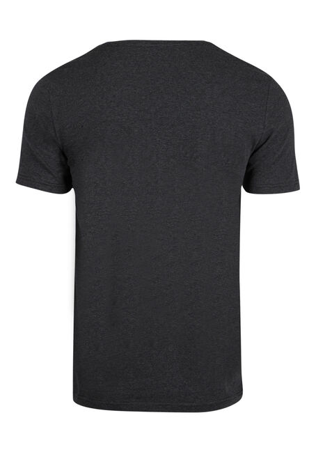 Men's Everyday Mini Stripe V-Neck Tee, CHARCOAL, hi-res