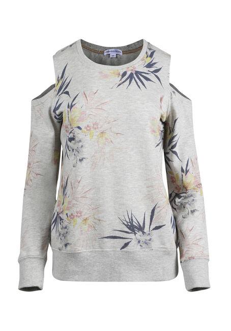 Women's Floral Cold Shoulder Fleece