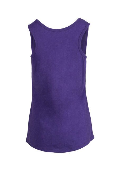 Women's Scoop Neck Slub Tank, VIOLET, hi-res