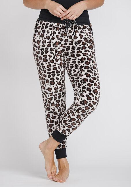 Women's Leopard Plush Jogger