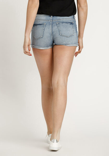 Women's Destroyed Short, LIGHT WASH, hi-res