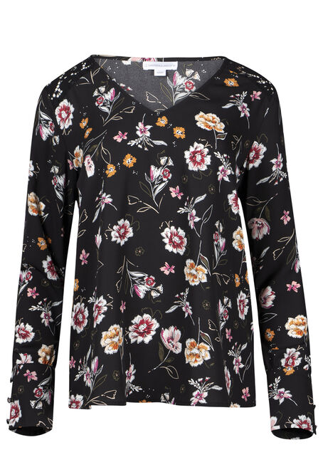 Women's Floral Lace Insert Blouse