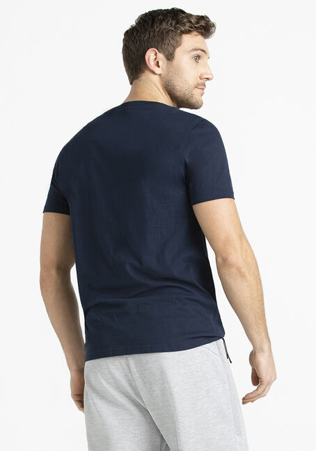 Men's V-Neck Tee, NAVY, hi-res
