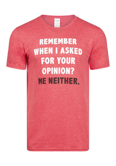 Men's Opinion Tee, HEATHER RED, hi-res