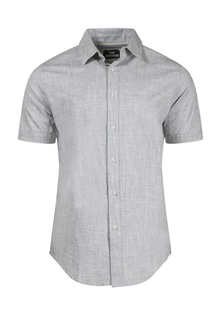 Men's Oxford Shirt, CHARCOAL, hi-res