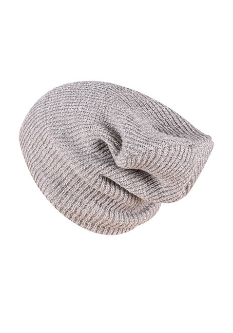 Men's Slouchy Beanie, LIGHT GREY, hi-res