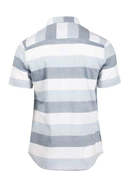 Men's Striped Shirt, WHITE, hi-res