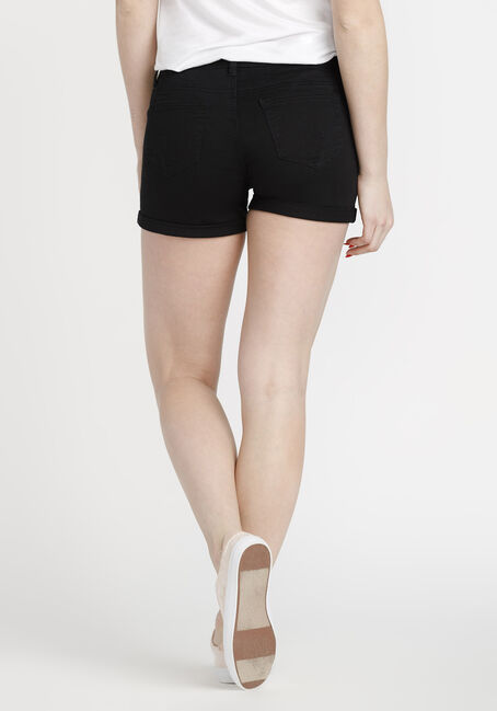 Women's Coloured Not-So-Short Short, BLACK, hi-res