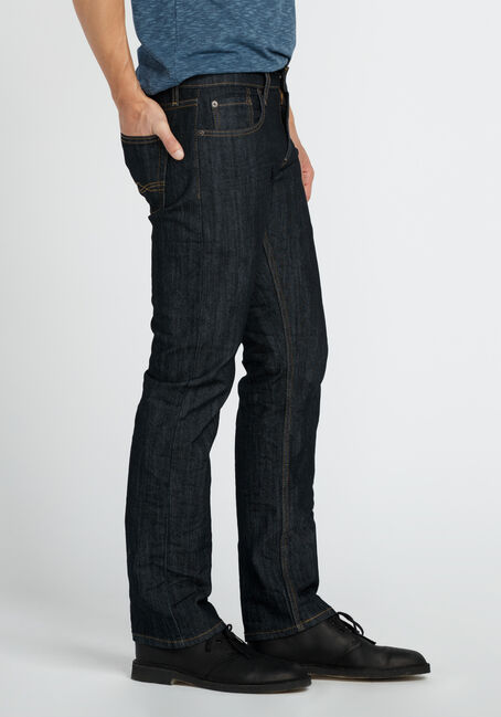 Men's Straight Leg Jeans, DARK WASH, hi-res