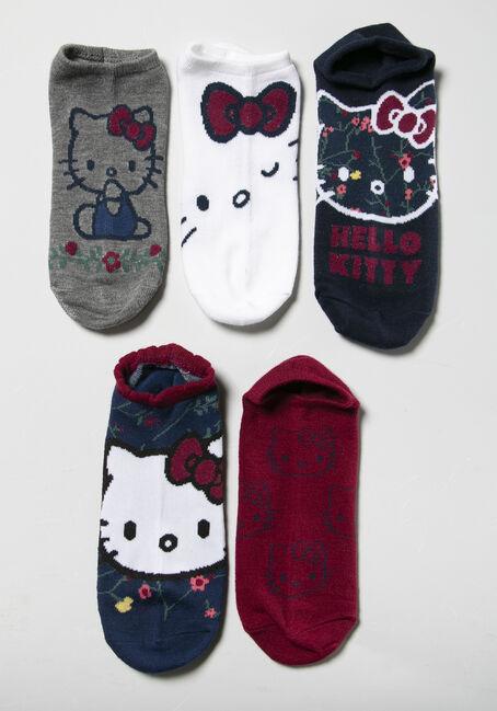 Women's Hello Kitty Socks, NAVY, hi-res