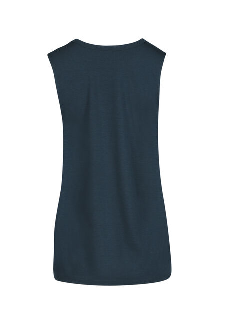 Ladies' Choker Tank, TEAL, hi-res