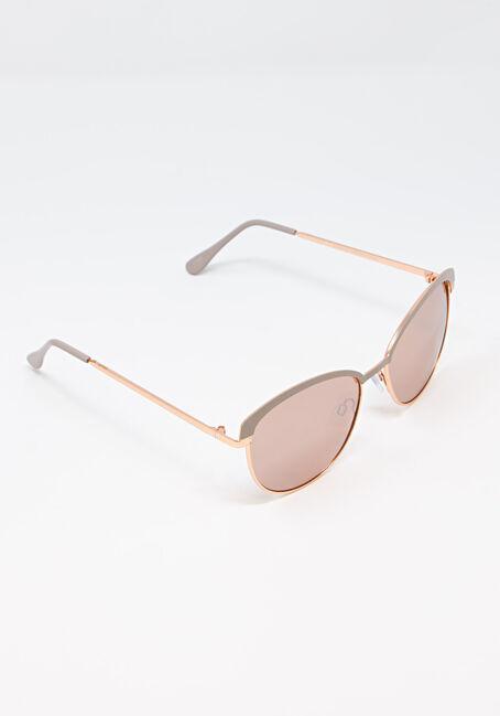 Women's Aviator Sunglasses, ROSE GOLD, hi-res