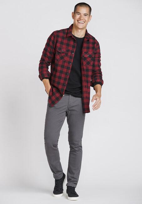 Men's Plaid Flannel Shirt, PLUM WINE, hi-res