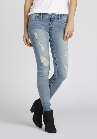 Women's Skinny Jeans, LIGHT WASH, hi-res