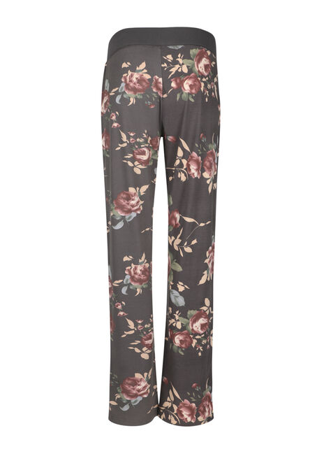 Ladies' Floral Lounge Pant, GREY FLORAL, hi-res