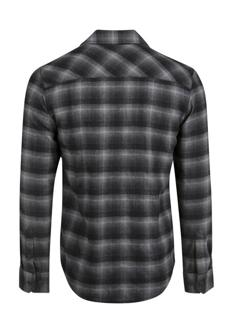 Men's Flannel Shirt, CHARCOAL, hi-res
