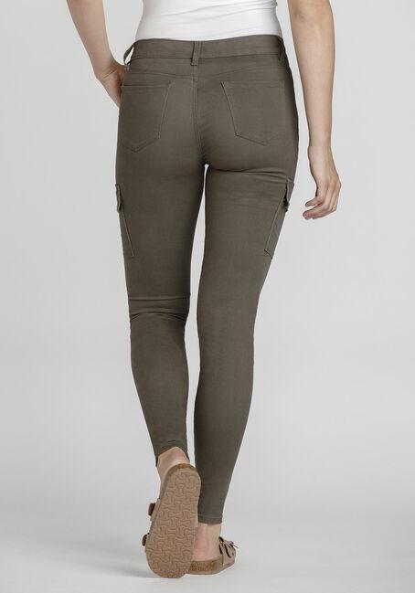 Women's Skinny Cargo Pant, DARK OLIVE, hi-res