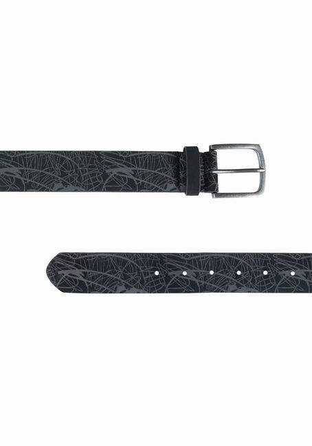 Men's Textured Belt, BLACK, hi-res