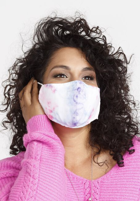 Tie Dye Face Mask, MULTI, hi-res