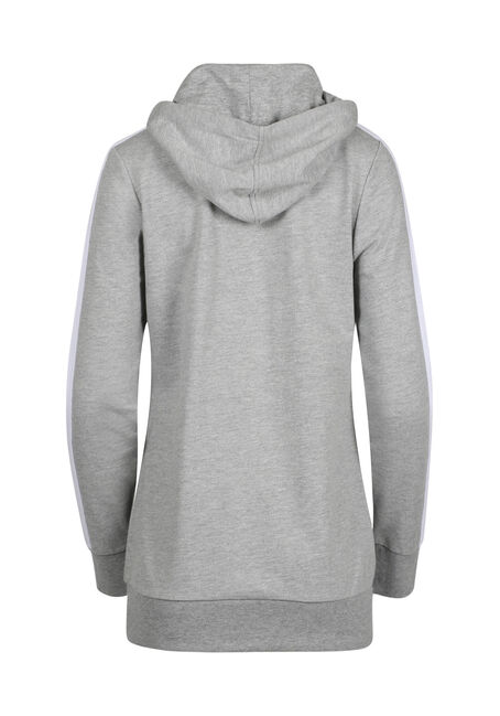 Women's Tunic Popover Hoodie, HEATHER GREY, hi-res