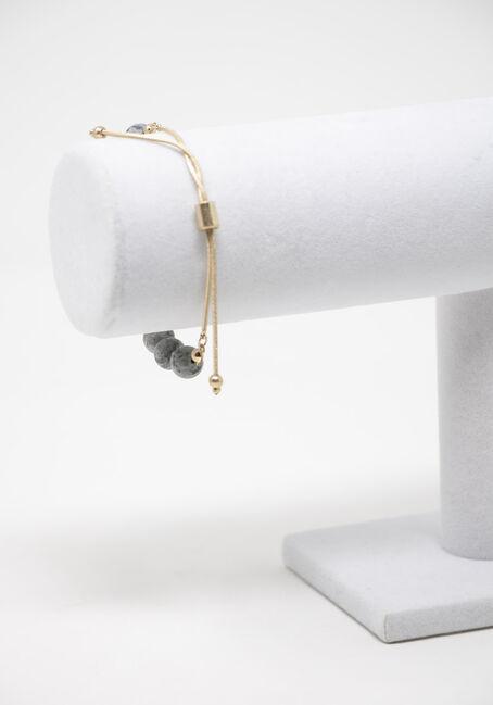 Lace Agate Pull Through Bracelet, GREY, hi-res