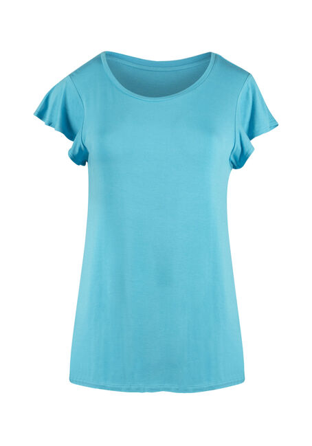Ladies' Flutter Sleeve Tee