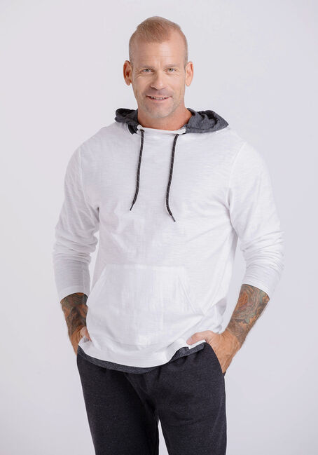 Men's Everyday Colour Contrast Hooded Tee