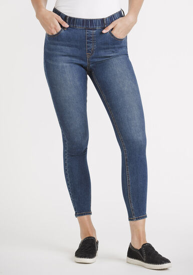 """Women's Pull-on Ankle Skinny  Jeans 27"""", MEDIUM WASH, hi-res"""