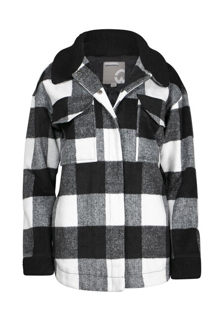 Women's Plaid Hooded Jacket