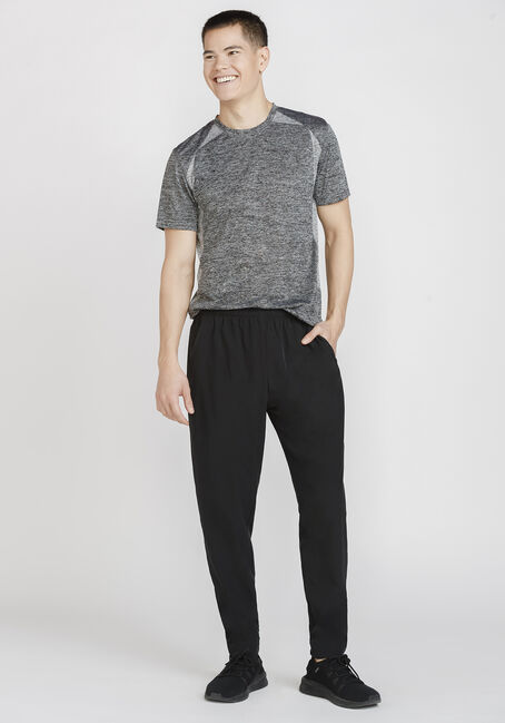 Men's Athletic Crew Neck Tee, BLACK, hi-res