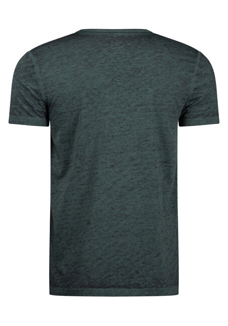 Men's Everday Burnout Split V-Neck Tee, EVERGREEN, hi-res