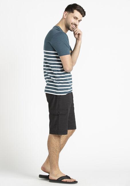 Men's Stripe V-Neck Tee, SHADED SPRUCE, hi-res