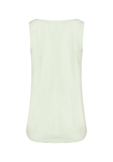 Women's Scoop Neck Tank, LIME, hi-res