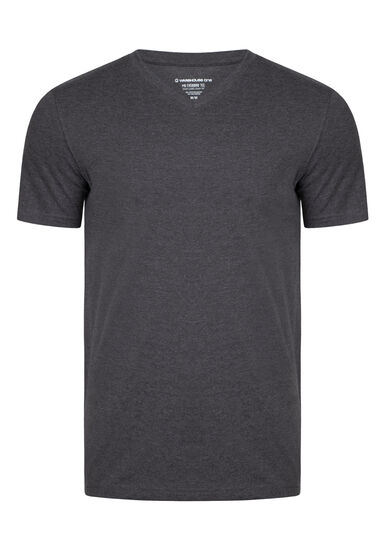 Men's Everyday V-Neck Tee, CHARCOAL, hi-res