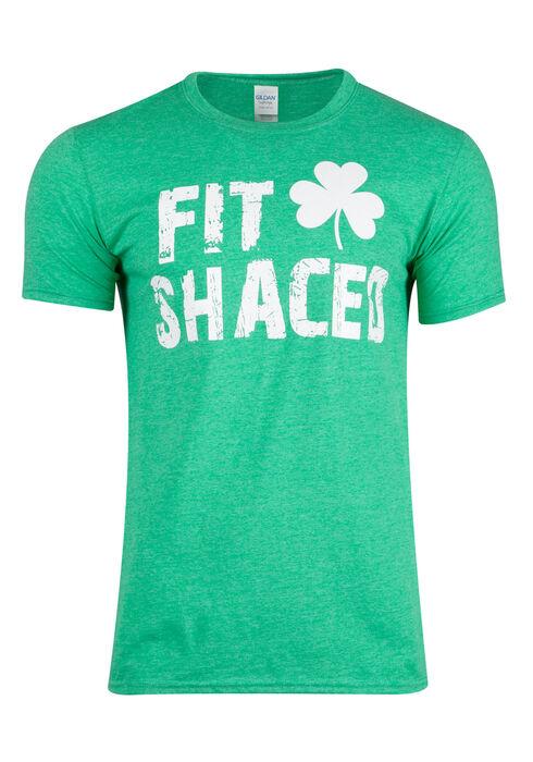 Men's Irish Fit Shaced Tee, HEATHER IRISH, hi-res