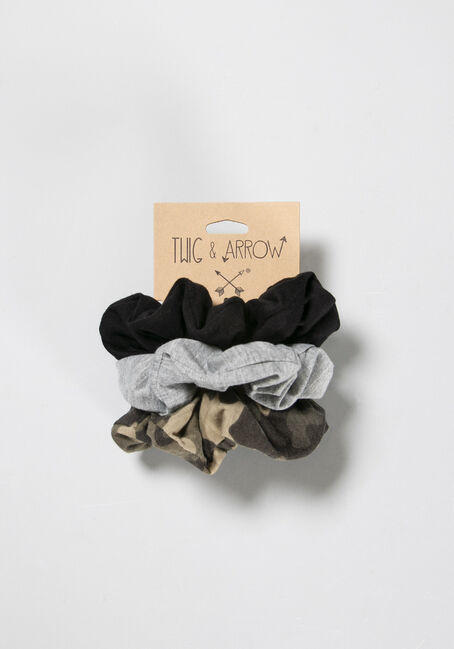 Women's Scrunchy Set, BLACK, hi-res