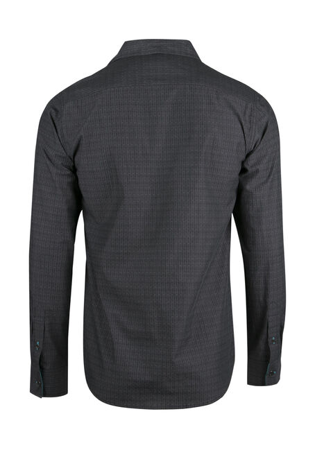 Men's Textured Shirt, CHARCOAL, hi-res
