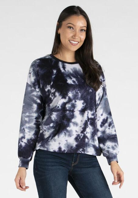 Women's Tie Dye Crew Neck Sweatshirt