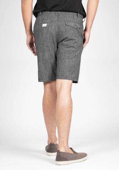 Men's Textured Skate Short, BLACK, hi-res
