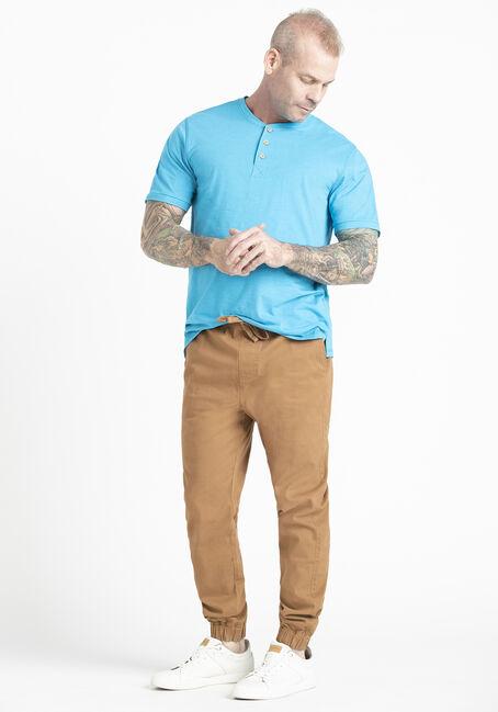 Men's Single Dye Henley Tee, VIVID BLUE, hi-res