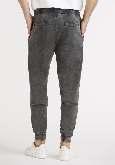 Men's French Terry Moto Jogger, BLACK, hi-res
