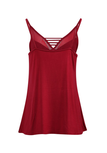 Ladies' Mesh Ladder Neck Tank, TRUE RED, hi-res