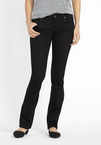 Women's Black Baby Boot Jeans, BLACK, hi-res