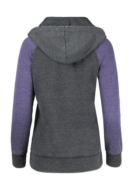Ladies' Baseball Hoodie, PURPLE, hi-res