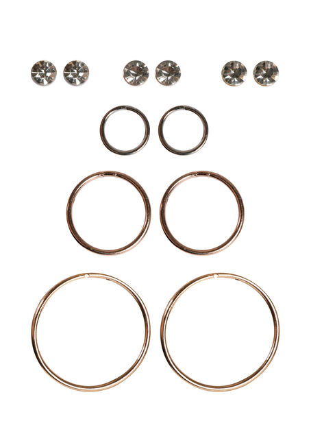 Ladies' 6 Pair Minimalist Earring Set