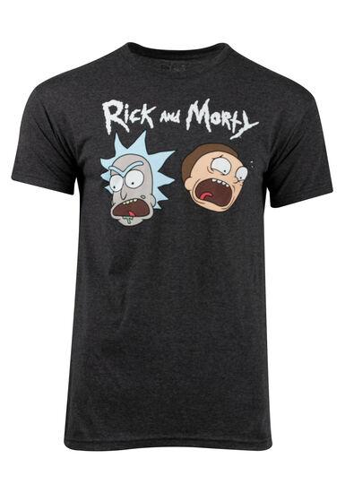 Men's Rick & Morty Tee, CHARCOAL, hi-res