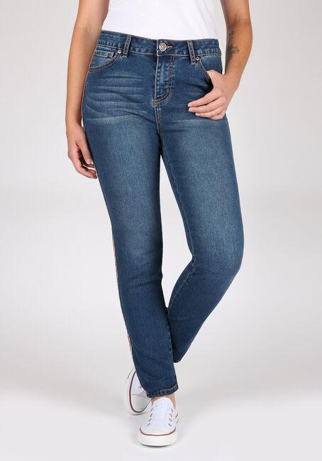 Women's Side Stripe Skinny Jeans